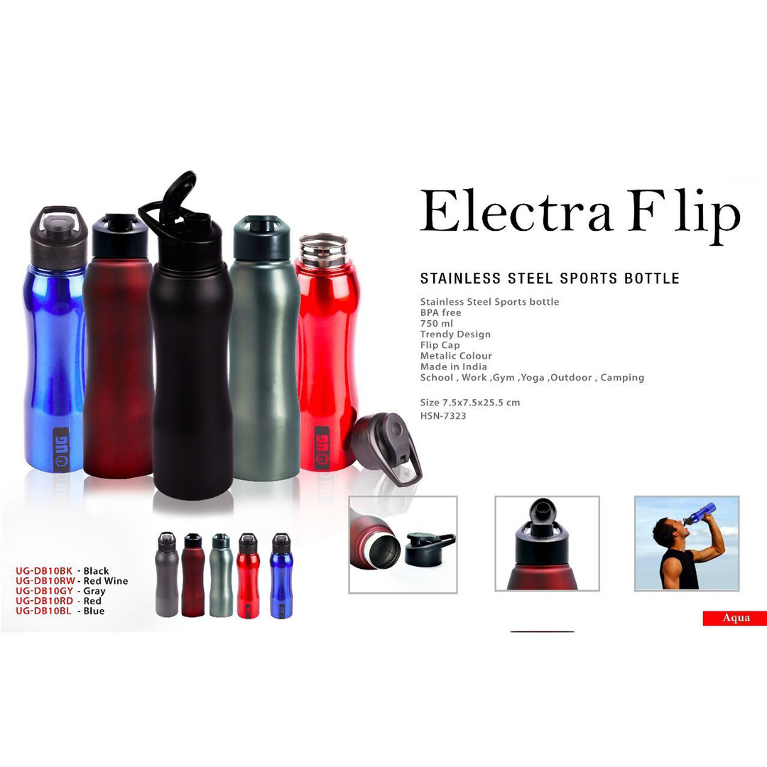electra flip stainless steel sports bott