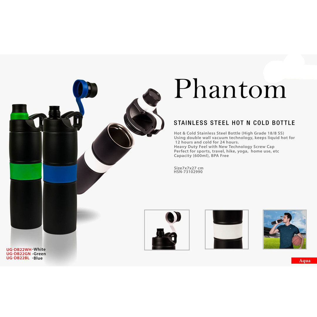 phantom stainless steel hot n cold bottl
