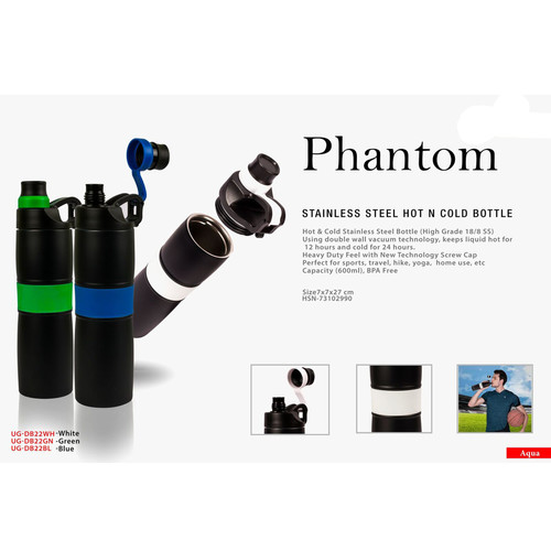 phantom stainless steel hot n cold bottl