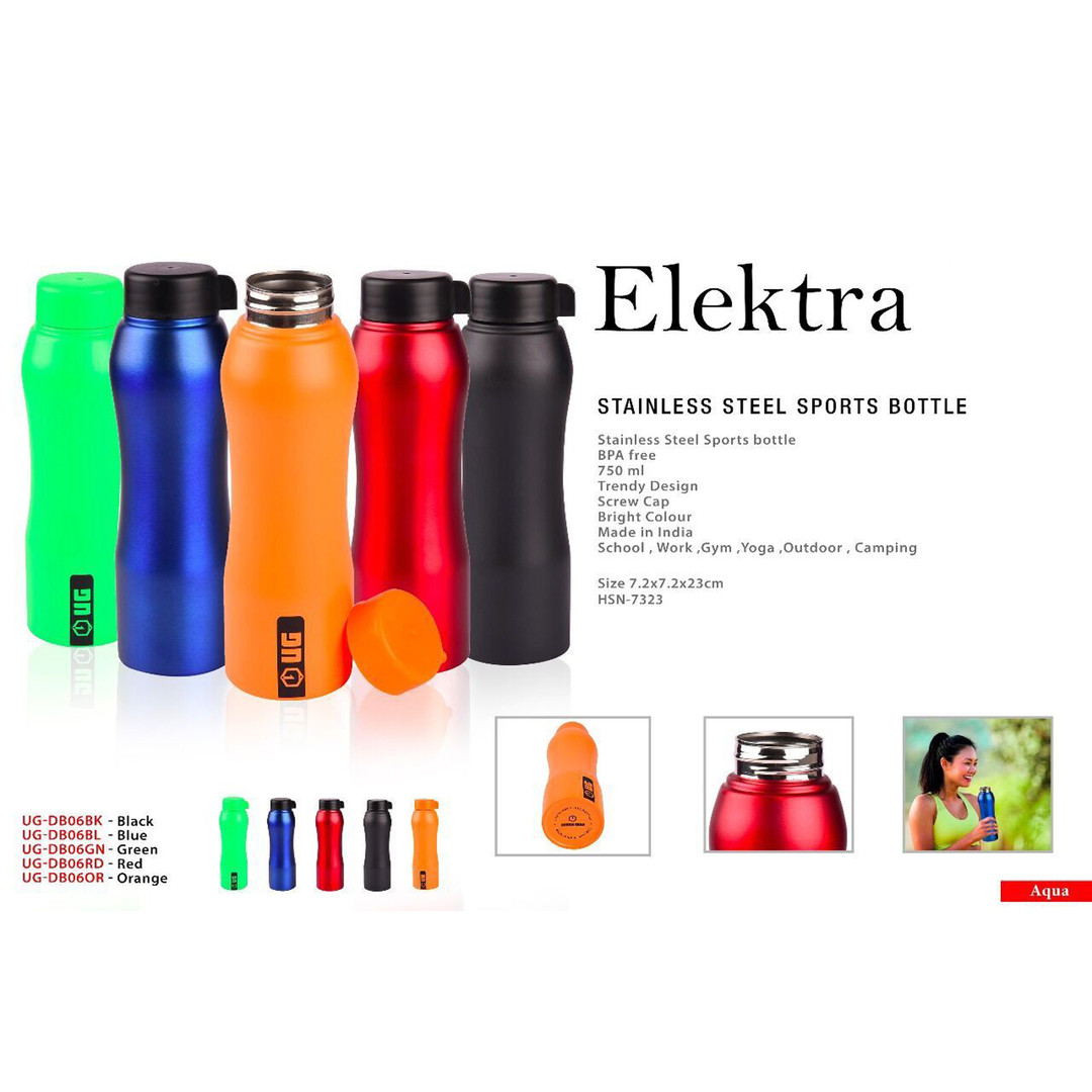 elektra stainless steel sports bottle sq