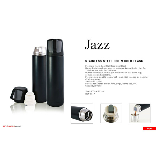 jazz stainless steel hot n cold flask sq