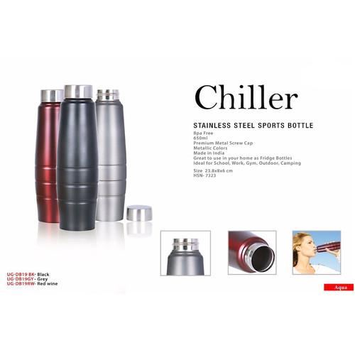 chiller stainless steel sports bottle sq