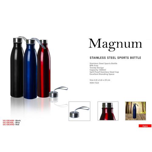 magnum stainless steel sports bottle squ