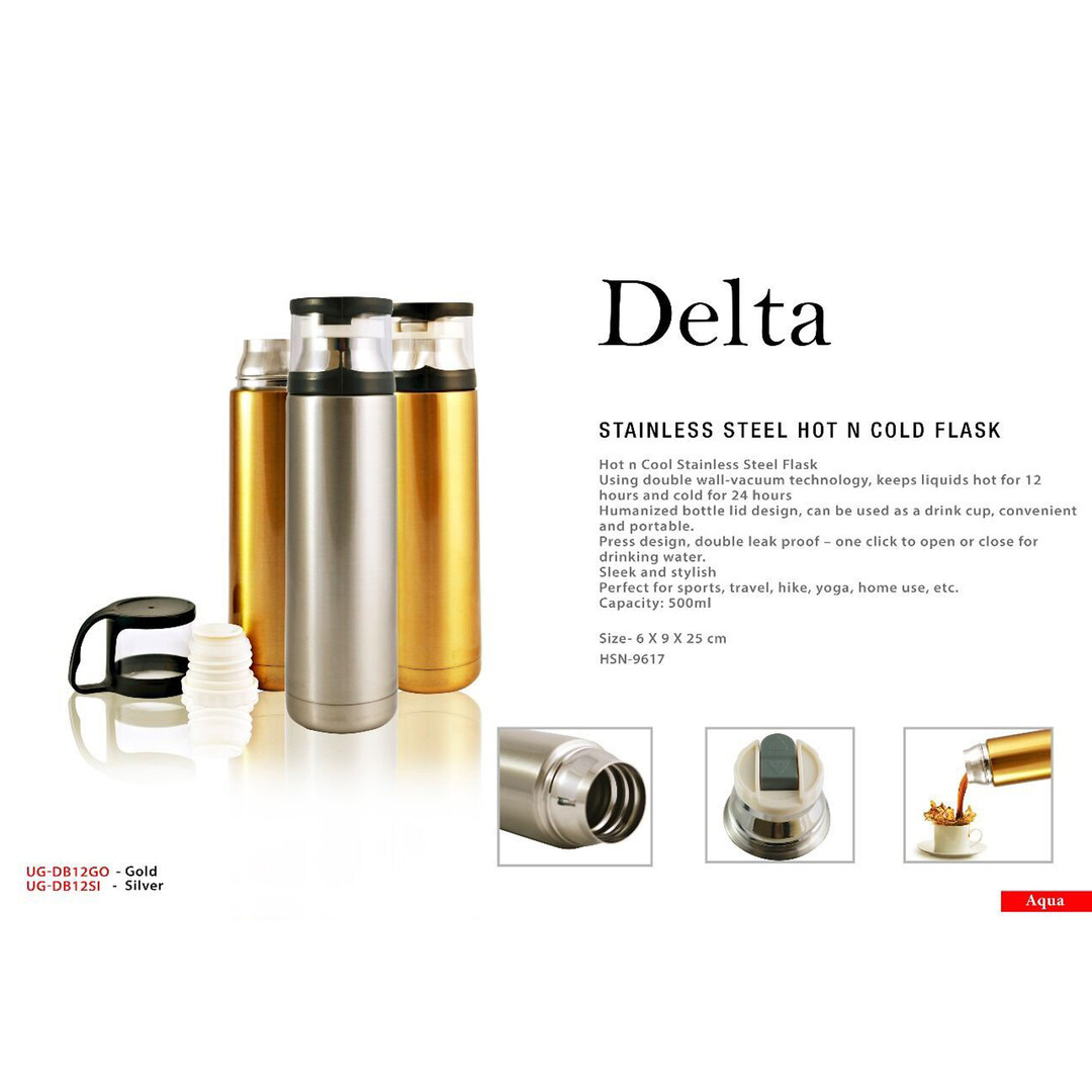 delta stainless steel hot n cold flask s