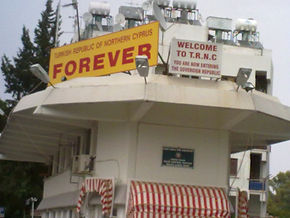 Cyprus, Nicosia, border crossing, TRNC