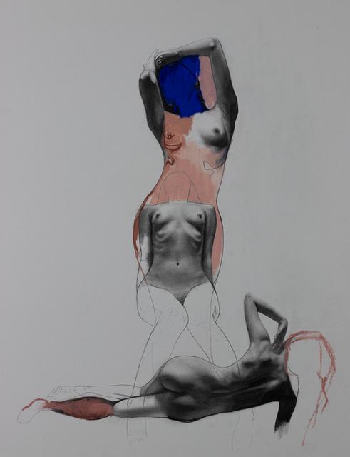 Woman Hidden in Blue