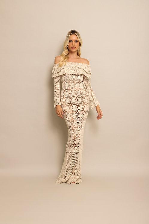 Vestido Handmade Flores - 00628