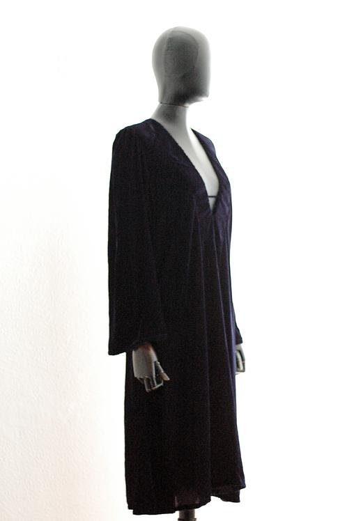 Vestido Veludo Marinho - 0087