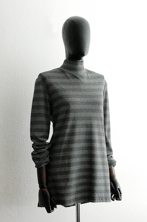 Blusa malha listras lurex - 0144