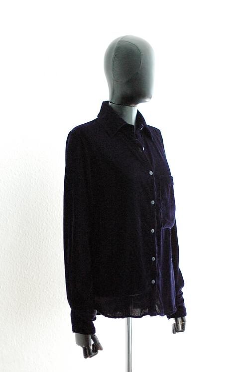 Camisa veludo marinho - 0089