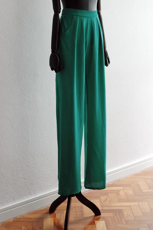Calça Pijama com Bolso Verde - 0399