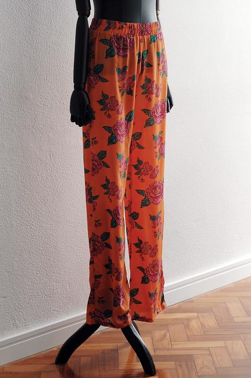 Calça Pijama Seda Flor de Chita - 0475