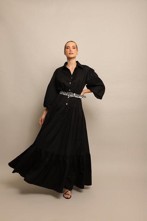 Vestido Chemise Longo Bianca - 0654