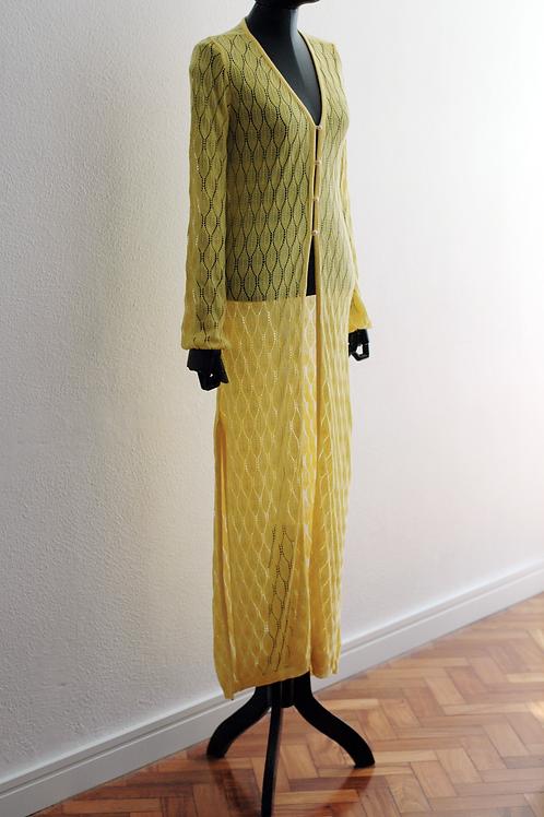 Cardigan Tricot Amarelo - 0551