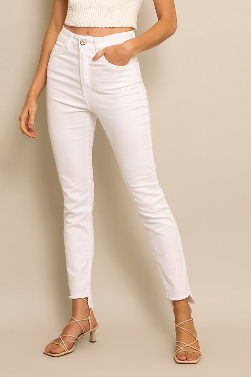 Calça Skinny White - 00644