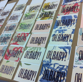 Oh baby! letterpress cards