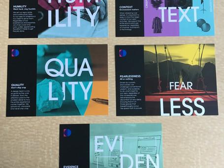 Design team welcome kit: principle cards