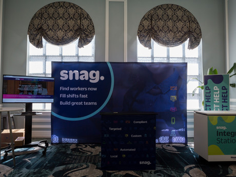 Snag's trade show booth
