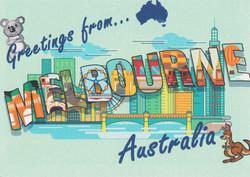 Greetings from Melbourne Australia posta
