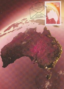 Australia red map