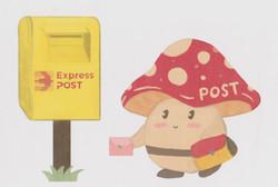 Mushroom-mailbox