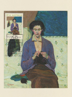 A sock knitter 1915
