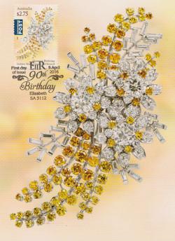 Golden Wattle Diamond Brooch