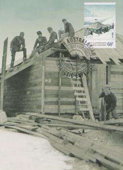 Buiding the hut