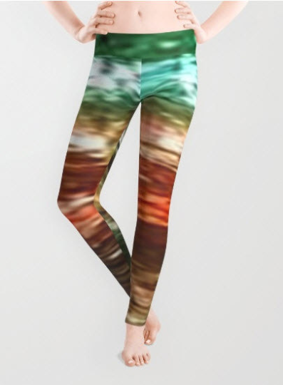 Green Tourmaline POP Art Leggings : Rock Collection