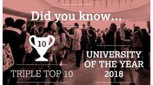 Lancaster University named University of the Year.