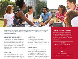 Join The University of Leicester in 2019