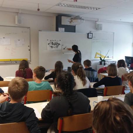 Intervention dans l'école primaire Jeanne d'Arc