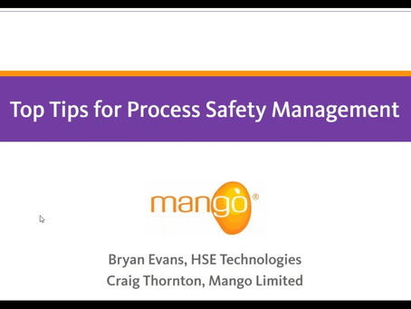 Webinar Recording: Top Tips for Compliance to Process Safety Management (PSM) Requirements