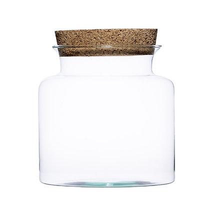 DIY - Terrarium en verre éco + liège (H:25cm D:25cm)