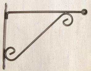 Potence double + boule en métal gris anthracite (L=29cm)