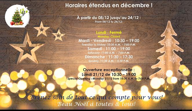 Horaires étendus en décembre pour un shopping de Noël détendu