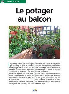 Petit Guide pratique #446 - Le potager au balcon - Éditions AEDIS