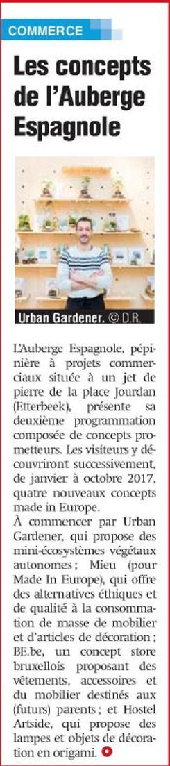 Urban Gardener dans la Presse