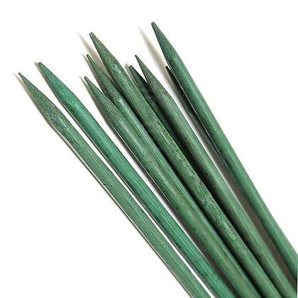 Tuteur en bambou couleur verte (L=50cm)