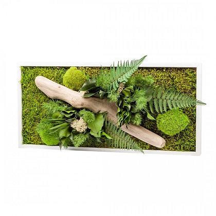 Cadre Végétal Stabilisé - Nature Rectangle (57 x 27 cm)