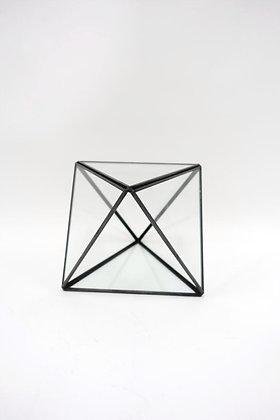 Terrarium géométrique métal & verre - DIY (13 x 18 cm)