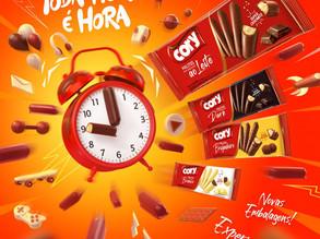 Confira o novo conceito dos biscoitos cobertos com chocolate da sócia-apoiadora Cory