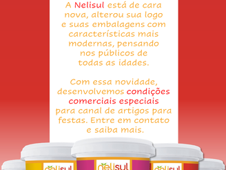 Nelisul, sócia-apoiadora ASBRAFE, lança nova: logo, embalagens e campanha comercial