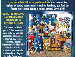 A sócia-apoiadora Piffer, lança tema para festas do Sonic The Hedgehog
