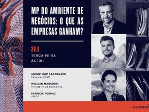 Evento: Saiba como a MP 1.040 beneficia as empresas e o ambiente de negócios
