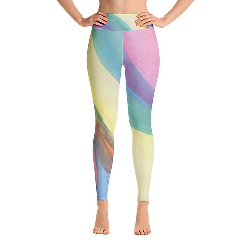 Watercolor Dreams High Waisted Yoga Leggings