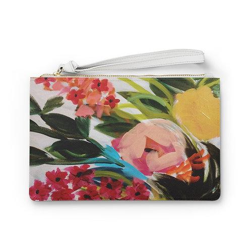 Painterly Bouquet Clutch Bag