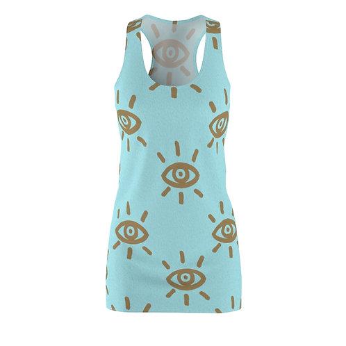 Golden Eye Women's Cut & Sew Racerback Dress