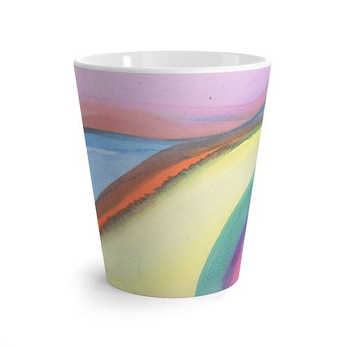 Watercolor Abstract Latte Mug