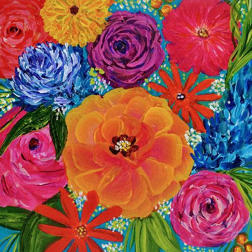 Vivid Blooms Original Painting